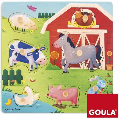 Puzzle Mamans et bébés animaux de la ferme (7 pièces)  par Goula