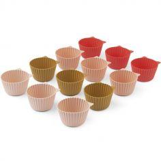 Lot de 12 moules à cupcakes chat Jerry Rose multi mix