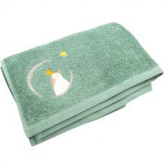 Serviette de bain vert d'eau Pingouin (70 x 140 cm)