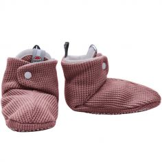 Chaussons en coton Ciumbelle  Nocture rose (0-3 mois)