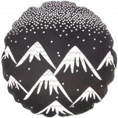 Coussin de sol Trendy Black and White Aspen