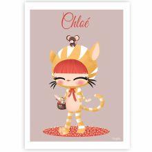 Carte A5 Les adorables costumés Le chat (personnalisable)  par Kanzilue