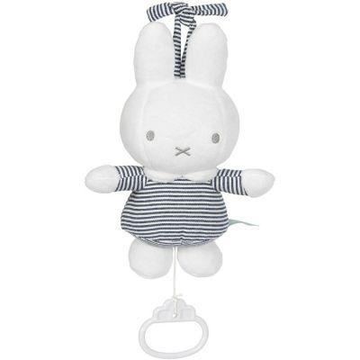 Doudou musical à suspendre lapin Miffy marinière  par Pioupiou et Merveilles