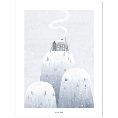 Affiche chalet de montagne Arctic dream (30 x 40 cm)  par Lilipinso