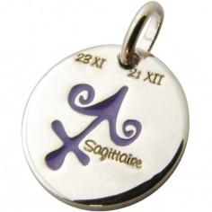 Médaille signe Sagittaire 14 mm (argent 925°)