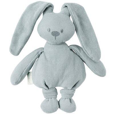 Peluche en tricot lapin vert-de-gris Lapidou (36 cm)  par Nattou