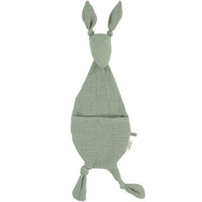 Doudou plat Kangourou Bliss vert olive  par Trixie