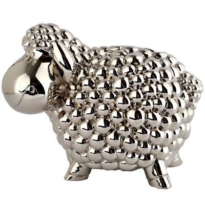 Tirelire mouton (métal argenté)  par Daniel Crégut