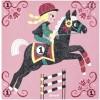Kit de cartes à pailleter Le monde du cheval - Janod