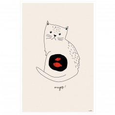 Affiche Chat Oups (60 x 40 cm)
