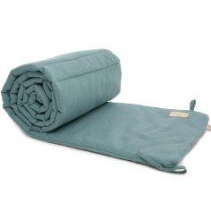 Tour de lit Nest bleu vert Nid d'abeille (pour lits 60 x 120 et 70 x 140 cm)