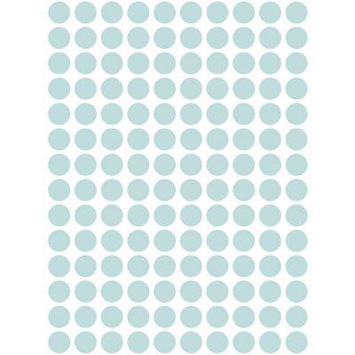 Stickers muraux ronds vert mint  par Lilipinso