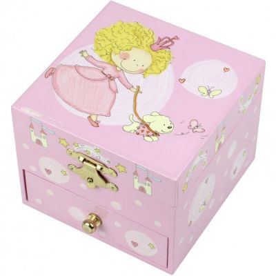 Coffret cube musical Princesse et chien  par Trousselier