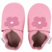 Chaussons en cuir Soft soles rose bonbon Mary Quant (9-15 mois) - Bobux