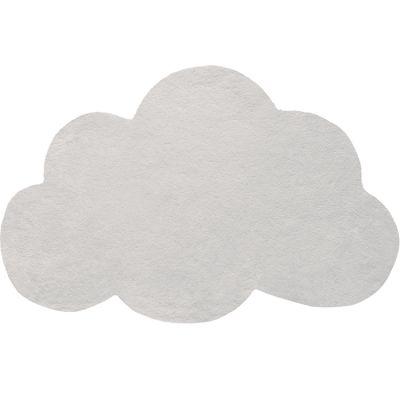Tapis nuage en coton gris clair (67 x 100 cm) Lilipinso