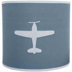 Applique murale circulaire Airplane gris bleu