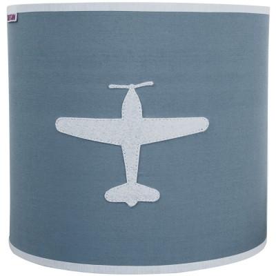 Applique murale circulaire Airplane gris bleu  par Taftan