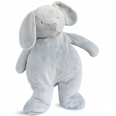 Peluche géante lapin gris (70 cm) Doudou et Compagnie