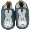 Chaussons cuir Paco marine (0-6 mois) - Noukie's