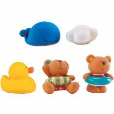 Coffret jouets de bain Teddy et ses amis (5 pièces)