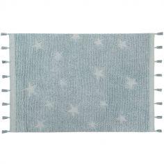 Tapis Hippy Stars Aqua bleu (120 x 175 cm)