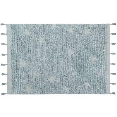 Tapis Hippy Stars Aqua bleu (120 x 175 cm) Lorena Canals