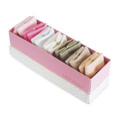 Lot de 7 paires de chaussettes bébé rose et taupe (0-6mois)