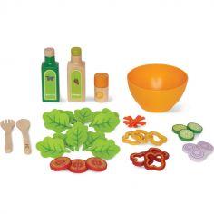 Service à Salade en bois et feutrine (36 pièces)
