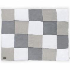 Tapis de jeu patchwork gris (80 x 100 cm)