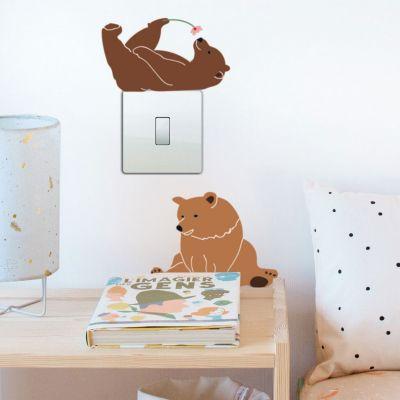 Stickers lazy bears Just a Touch (26 x 19 cm)  par Mimi'lou