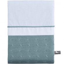 Housse de couette + taie d'oreiller vert d'eau Cable (100 x 135 cm)  par Baby's Only