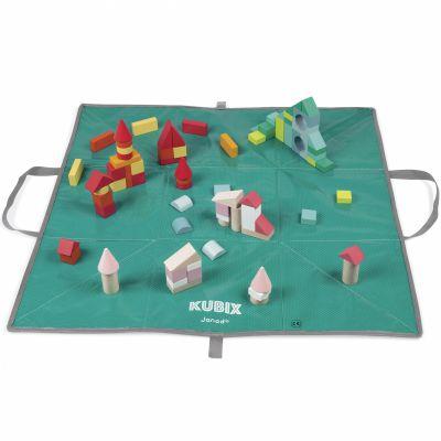 Blocs de construction Kubix (80 cubes) Janod
