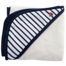 Serviette tablier de bain Papillon rayures bleues  par BabyToLove