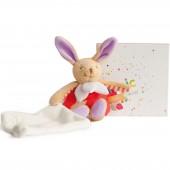 Doudou plat Luminescent lapin (25 cm) - Doudou et Compagnie