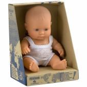 Poupée bébé fille Européenne (21 cm) - Miniland