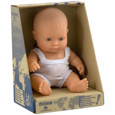 Poupée bébé fille Européenne (21 cm) Miniland