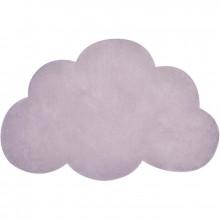 Tapis coton nuage violet clair (64 x 100 cm) : Lilipinso