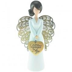 Statuette ange L'amour d'une mère (15,5 cm)