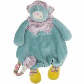 Doudou attache sucette chat bleu Les Pachats - Moulin Roty