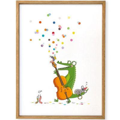 Affiche encadrée Jazzy (30 x 40 cm)  par Série-Golo