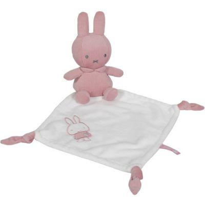 Doudou plat lapin Miffy rose velours  par Pioupiou et Merveilles