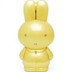 Tirelire Miffy en métal doré (personnalisable)
