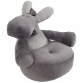 Pouf Sofa Paco âne gris Poudre d'étoiles (50 cm)  - Noukie's