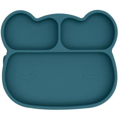 Assiette à compartiments ours dusk bleu  par We Might Be Tiny