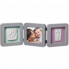 Cadre photo empreinte Baby Art Double Print Frame gris
