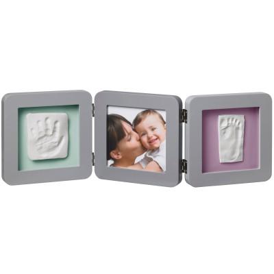 Cadre photo empreinte Baby Art Double Print Frame gris  par Baby Art