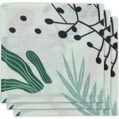 Lot de 3 minis langes Leaves (31 x 31 cm)