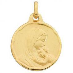 Médaille Vierge à l'enfant (or jaune 375°)