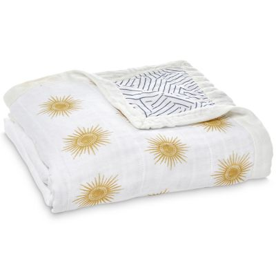 Couverture de rêve Dream blanket en bambou Golden Sun (120 x 120 cm)  par aden + anais