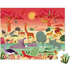 Puzzle La réserve animalière (54 pièces)
